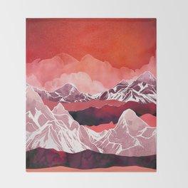 Scarlet Glow Throw Blanket
