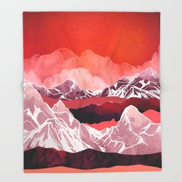 Scarlet Glow Throw Blanket
