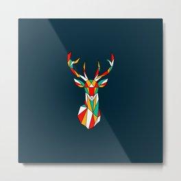 deer low polygon Metal Print
