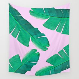 Banana Palm, muck and teal Wall Tapestry