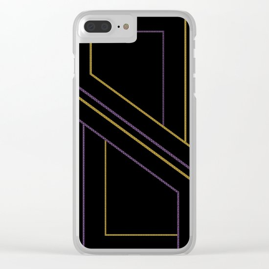 Geometry on black (abstract) Clear iPhone Case