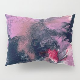 Thunderstorm: a vibrant, abstract acrylic piece in purple, blue, magenta, and white Pillow Sham