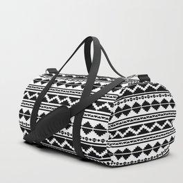 12 - Moroccan Black and White Traditional Bohemian Artwork. Duffle Bag