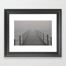 A Destination Lost In The Fog Framed Art Print