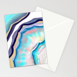 Rainbow agate Stationery Cards
