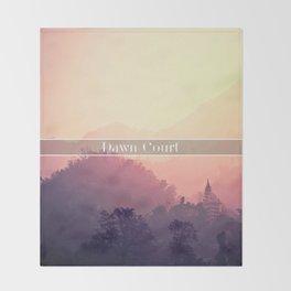 Dawn Court Throw Blanket