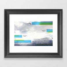 Birds and Lines Framed Art Print