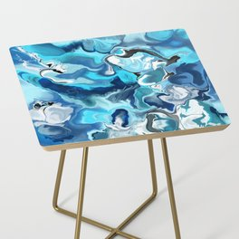 Blue marble Side Table