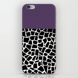 British Mosaic Purple Boarder iPhone Skin