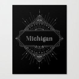Black Art Deco Michigan Canvas Print