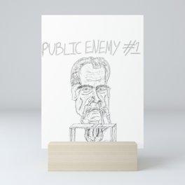 Anti-Nixon parody cartoon Mini Art Print