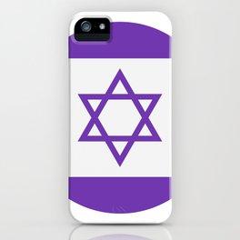 israel flag iPhone Case