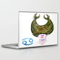 cancer Laptop & iPad Skins featuring Cancer by Aloke Design