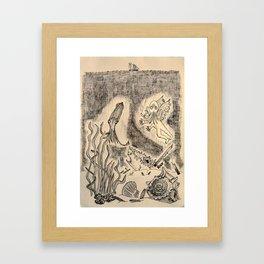 Parchment Sea  Framed Art Print