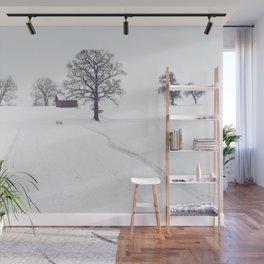 Rural Winter Landscape Wall Mural