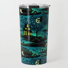 Halloween Night - Fox Fire Green Travel Mug