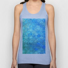 Summer Dream Colorful Trendy Mermaid Scales Unisex Tank Top