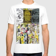 Cosmic Charlie Mens Fitted Tee MEDIUM White