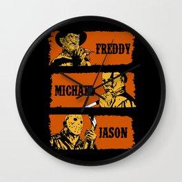 Freddy, Michael and Jason Wall Clock