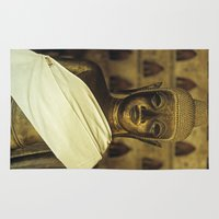 buddhism Area & Throw Rugs featuring Buddha II by Maria Heyens