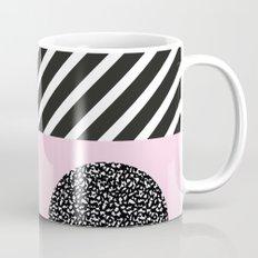 Memphis Pink Stripes 80s Mug
