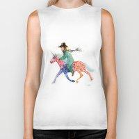 cowboy Biker Tanks featuring Cowboy by Ksenia Sapunkova