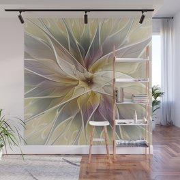 Floral Fantasy, Abstract Fractal Art Wall Mural