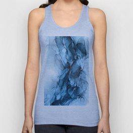 Deep Blue Flowing Water Abstract Painting Unisex Tanktop