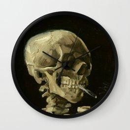 Vincent van Gogh - Skull of a Skeleton with Burning Cigarette Wall Clock