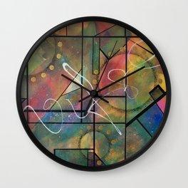 Geometric abstract colorful interlock design Wall Clock