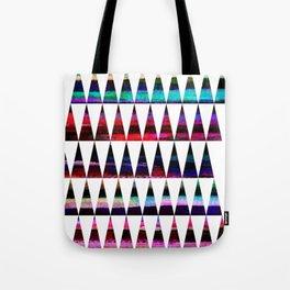 happy colored triangles Tote Bag