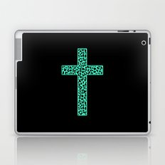Mint Leopard Cross Laptop & iPad Skin