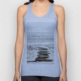 Balancing Stones On The Beach Unisex Tank Top