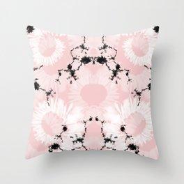 Pink Boheme Throw Pillow