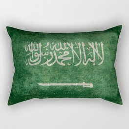 Flag of  Kingdom of Saudi Arabia - Vintage version Rectangular Pillow