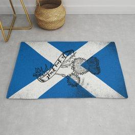 SCOTLAND FLAG JE SUIS PREST Rug