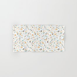 Colorful smooth stones terrazzo pattern Hand & Bath Towel
