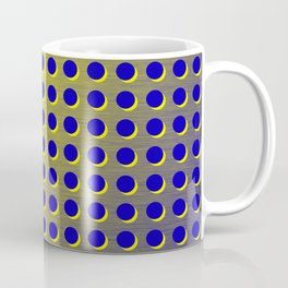 Blue and yellow brushed metal with holes Coffee Mug