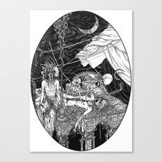 Fleeing Skeleton Canvas Print