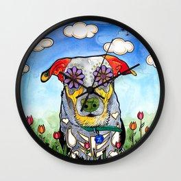 Ziggy the Rottweiler Mix Wall Clock