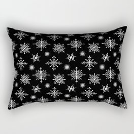 Winter in black and white - Snowflakes pattern Rectangular Pillow