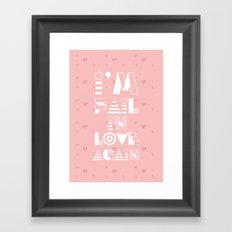 I Fail in Love Framed Art Print