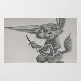 Dave the Warrior Fennec Fox Rug