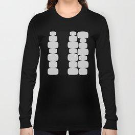 Abstraction_Balance_ROCKS_BLACK_WHITE_Minimalism_001 Long Sleeve T-shirt