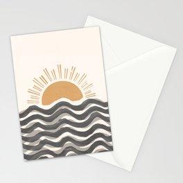 Waft Sun-Grey Stationery Cards