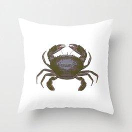 Mud Crab Scylla serrata by Chrissy Wild Throw Pillow