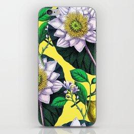 Vintage Lotus + Lemons iPhone Skin