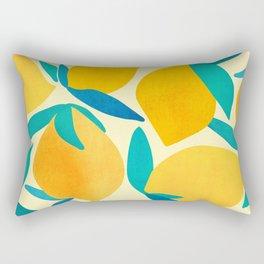 Mangoes - Tropical Fruit Illustration Rectangular Pillow