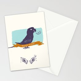 Parrot's body language for guests  Stationery Cards