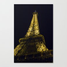 Eiffel Tower @ Night Canvas Print